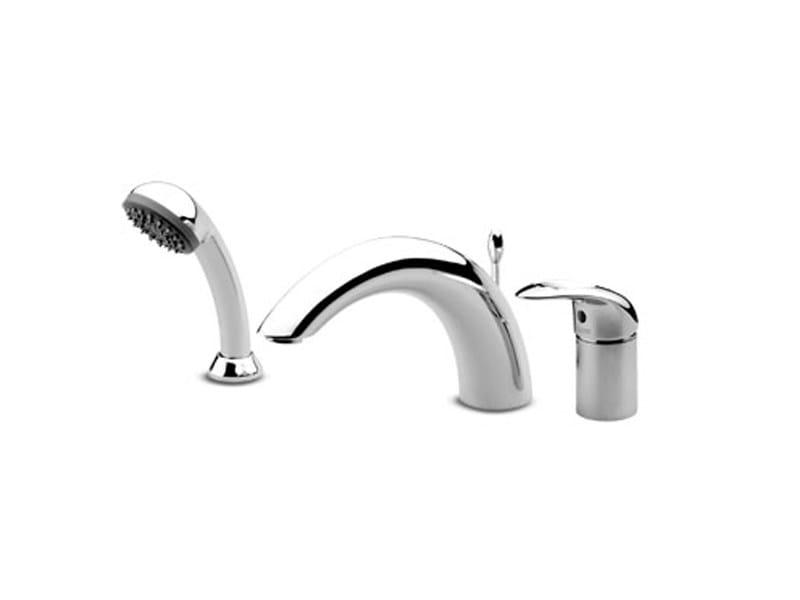 3 hole bathtub set with hand shower OBLÒ | Bathtub set by ZUCCHETTI