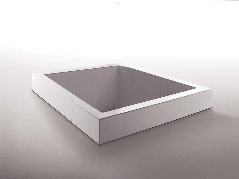 Vasche Da Bagno Zucchetti : Vasca da bagno quadrata in metacrilato da incasso grande quadra by