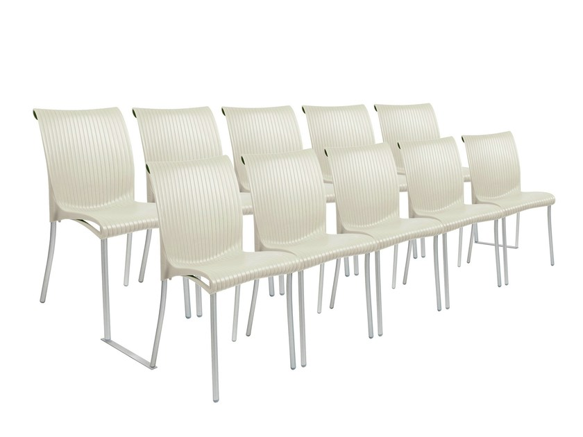Auditorium waiting room chair with linking device REGINA MEETING by Nardi
