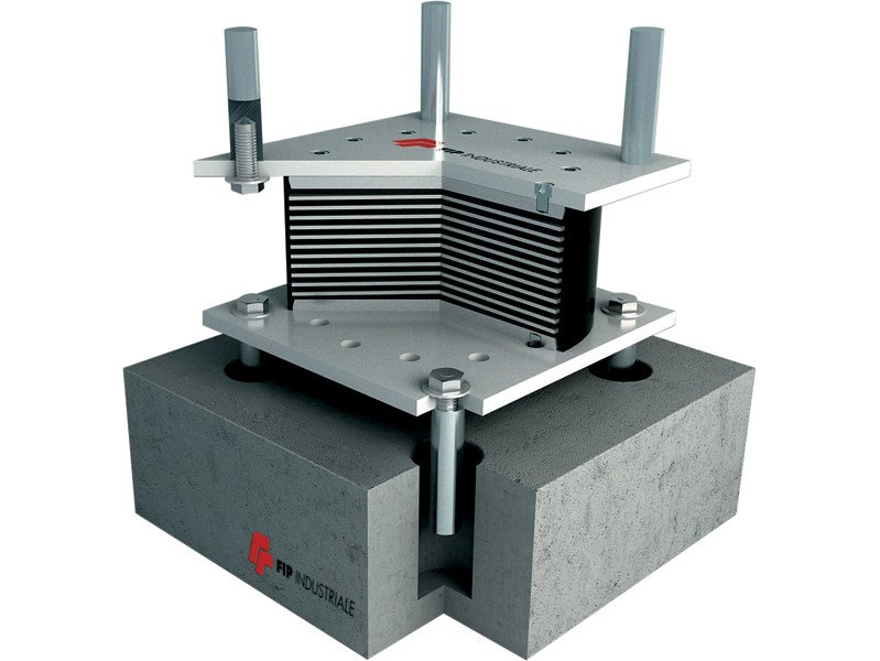 Anti-seismic device, insulator, dissipator SI | Seismic isolator by FIP INDUSTRIALE