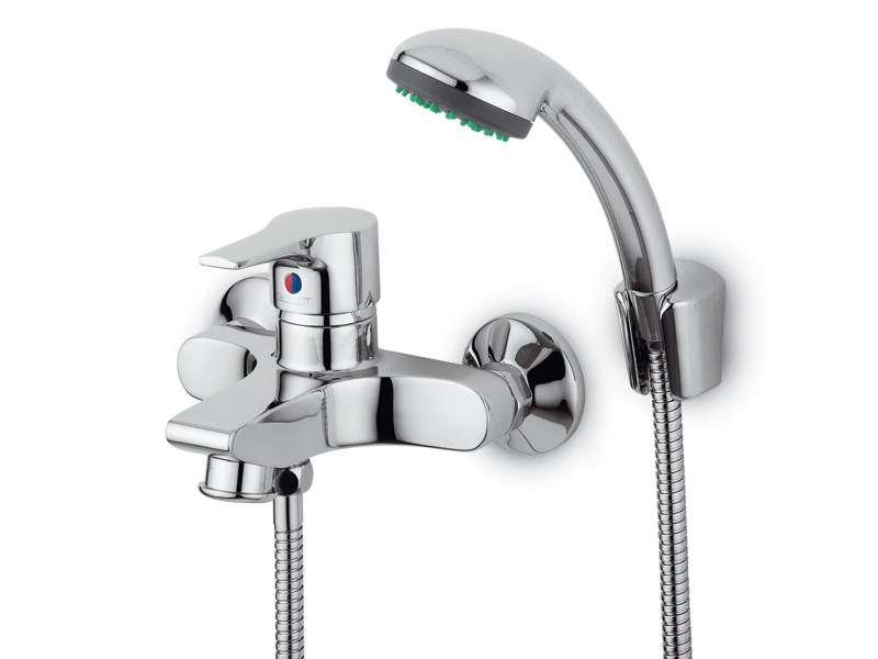2 hole shower mixer with hand shower FLAT | Shower mixer with hand shower by ZUCCHETTI