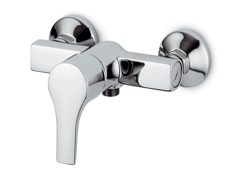 2 hole chrome-plated shower mixer FLAT | Shower mixer by ZUCCHETTI