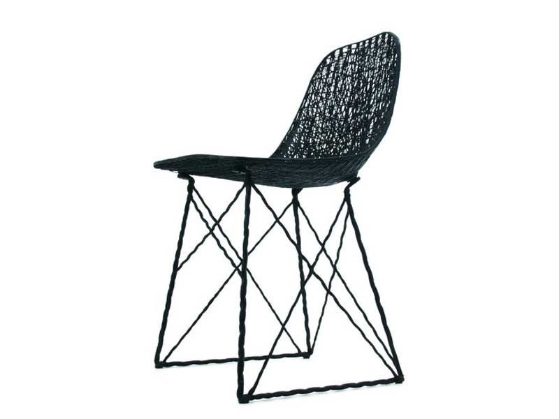 Sled base carbon fibre chair CARBON CHAIR by moooi