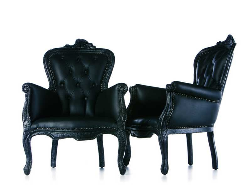 Upholstered armchair with armrests SMOKE CHAIR by moooi