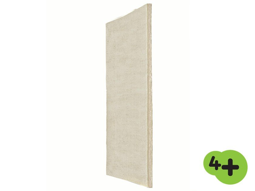 Glass wool Thermal insulation panel / Sound insulation and sound absorbing panel in mineral fibre EXTRAWALL VV 4+ by Saint-Gobain ISOVER