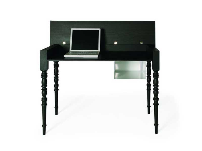 Wooden writing desk TWO TOPS SECRETARY by moooi