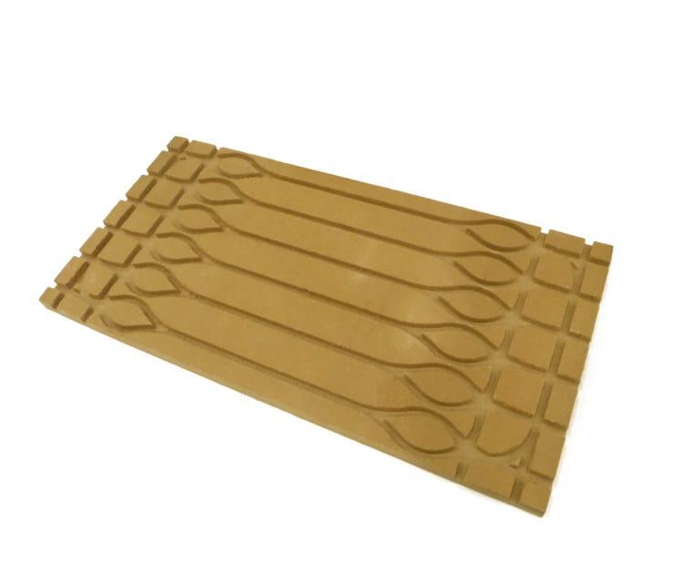Pavimento radiante in fibra di legno