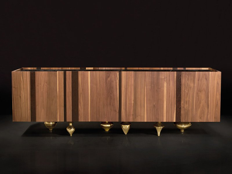 Wooden sideboard with doors IL PEZZO 1 | Sideboard by Il Pezzo Mancante