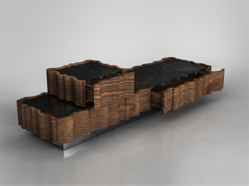 Solid wood coffee table for living room IL PEZZO 2 | Coffee table by Il Pezzo Mancante