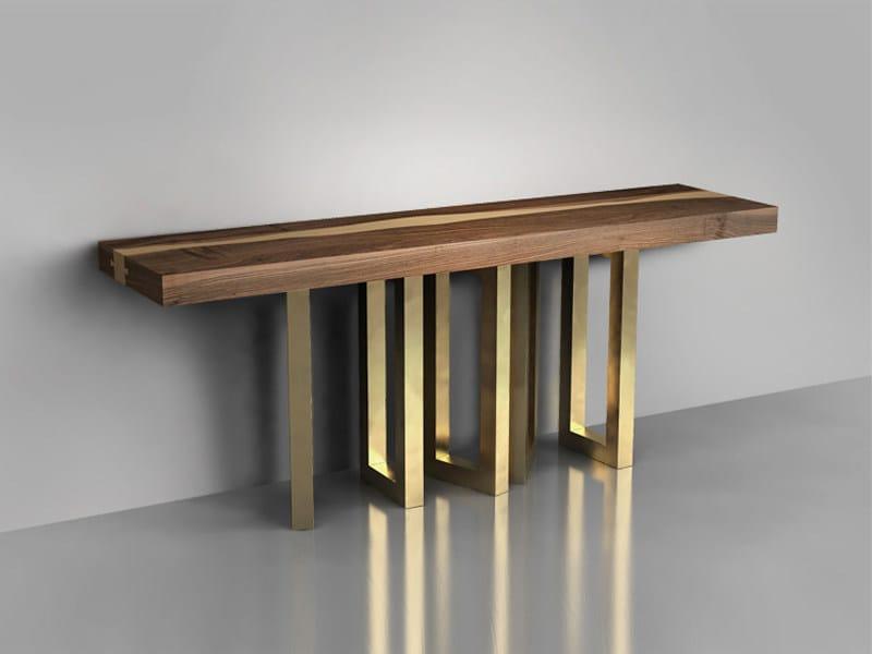 Solid wood console table IL PEZZO 6 | Console table by Il Pezzo Mancante