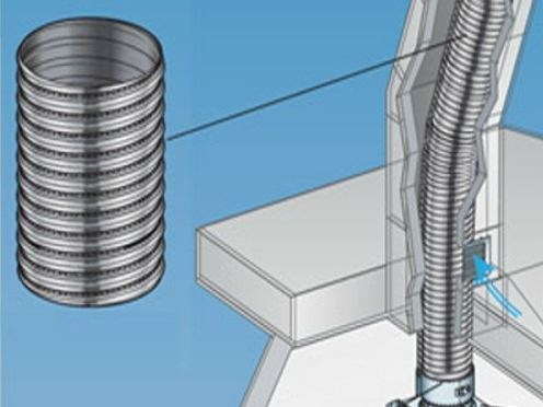 Stainless steel flue FLESSIBILI PER CAMINI by Ala Poujoulat