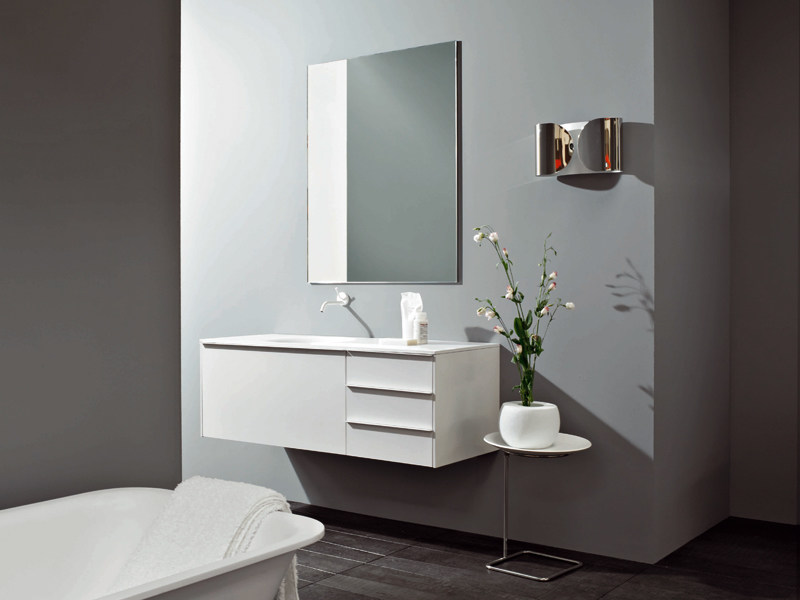 Wall-mounted vanity unit MORPHING UNIT 130 by Kos by Zucchetti