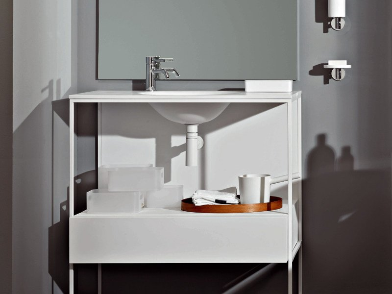 Metal Vanity Unit With Drawers MORPHING STEEL 90 By Kos By Zucchetti