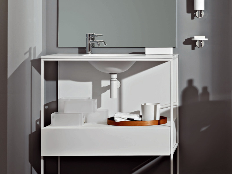 Metal Vanity Unit With Drawers Morphing Steel 90 By Kos By
