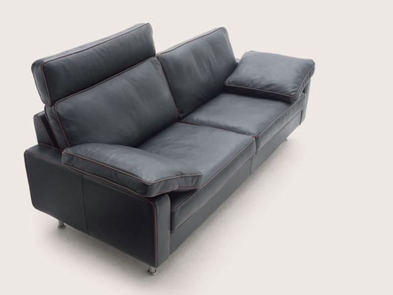 Leather sofa with headrest CONSETA | Leather sofa by COR