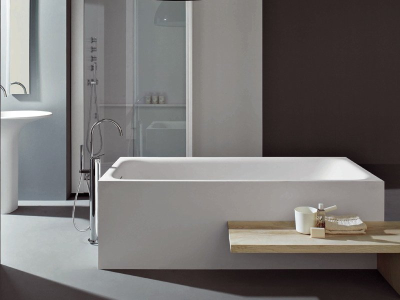 Morphing cristalplant bathtub by kos by zucchetti - Mezza vasca da bagno ...