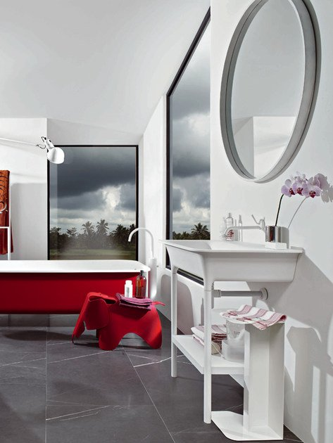 Morphing specchio per bagno by kos by zucchetti design - Specchio rotondo bagno ...