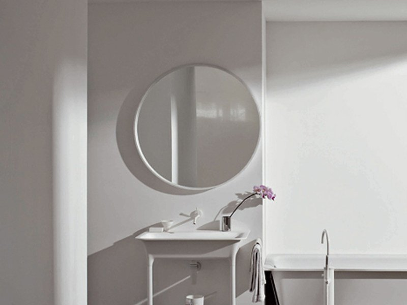 Round bathroom mirror MORPHING | Bathroom mirror by Kos by Zucchetti
