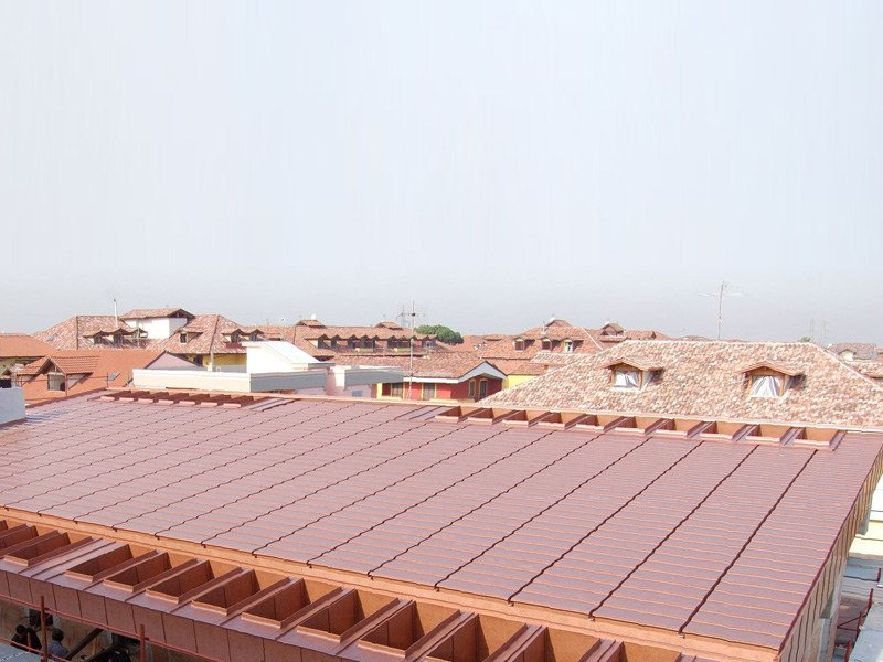 Metal sheet and panel for roof LARES® Skin by Mazzonetto