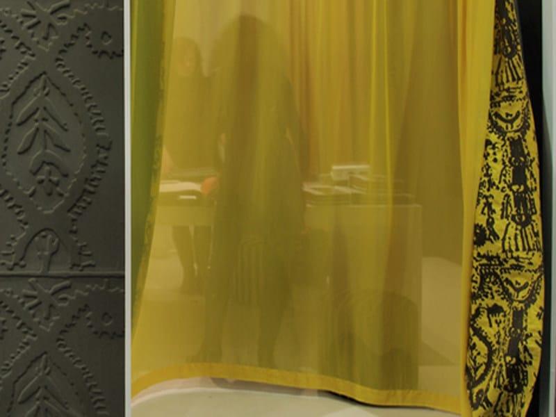 Fire retardant polyester fabric for curtains EGÉRIE by Élitis