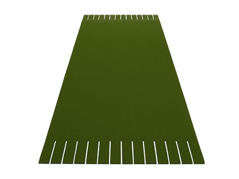 Solid-color rectangular felt rug FRANSE by HEY-SIGN