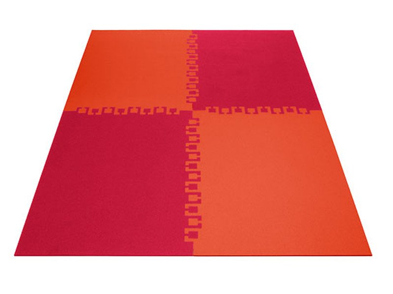 Rectangular felt rug TWICE by HEY-SIGN