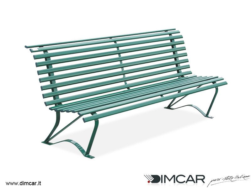 Classic style metal Bench with back Panchina Stylus by DIMCAR