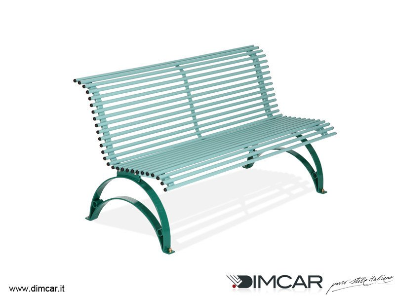 Classic style metal Bench with back Panchina Danea by DIMCAR