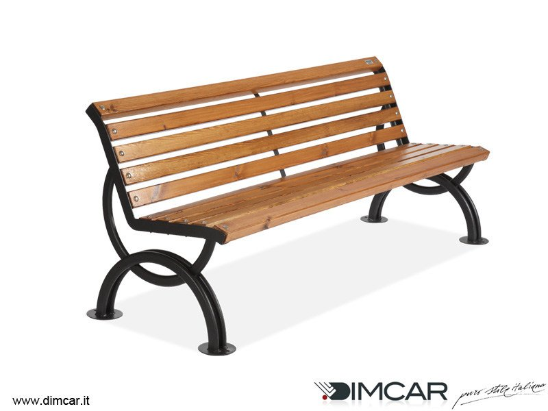 Classic style metal Bench with back Panchina Lesina by DIMCAR