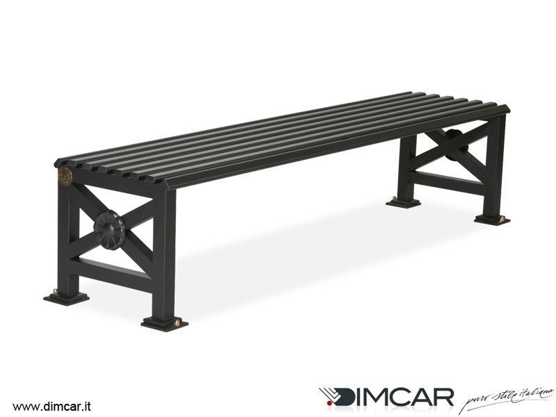 Classic style backless metal Bench Panca Orchidea by DIMCAR