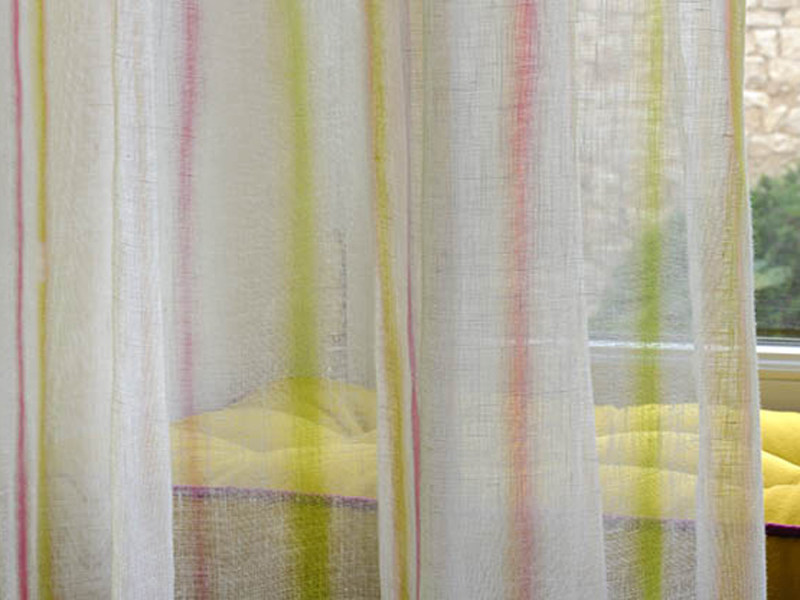 Linen fabric for curtains ROMANCE by Élitis