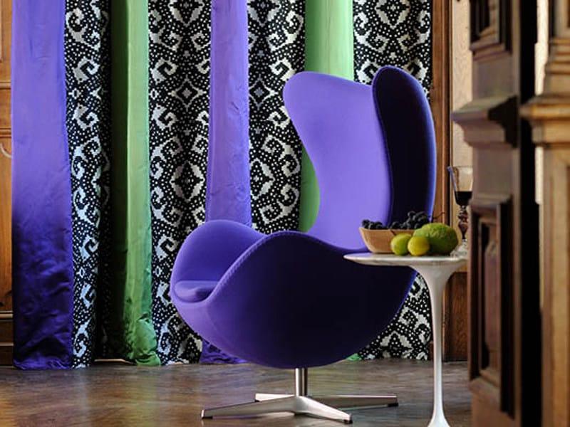 Jacquard silk fabric for curtains IPANEMA by Élitis