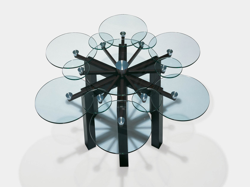 Glass dining table SECHSER by Draenert