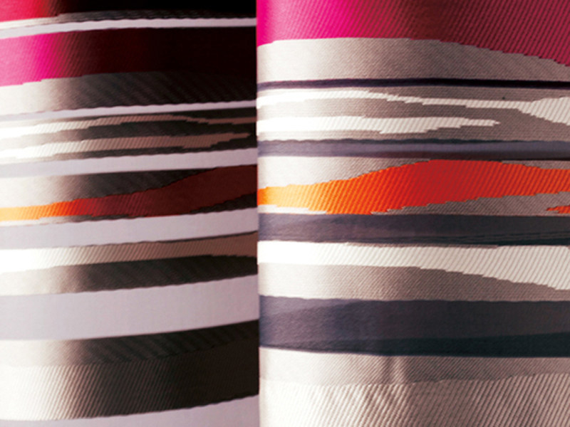 Fire retardant polyester fabric for curtains VIBRATION by Élitis