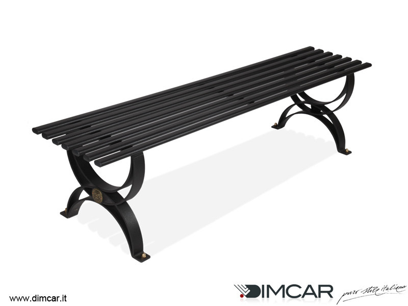 Classic style backless metal Bench Panca Dalia by DIMCAR