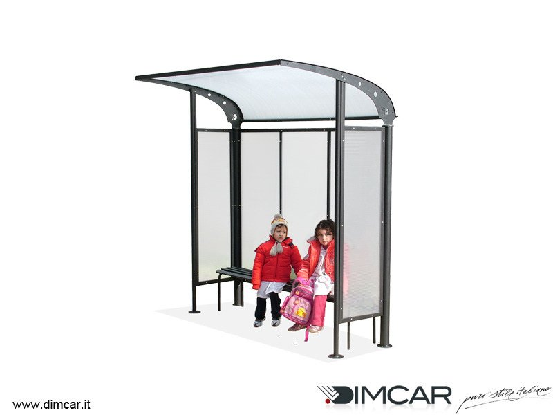 Metal porch for bus stop Pensilina Scuolabus by DIMCAR