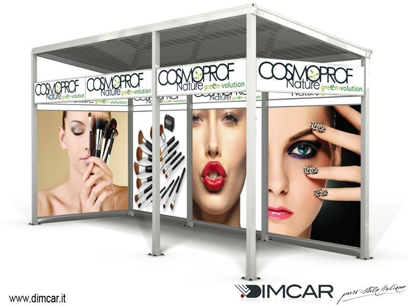 Multifunction metal porch Box pubblicitario by DIMCAR