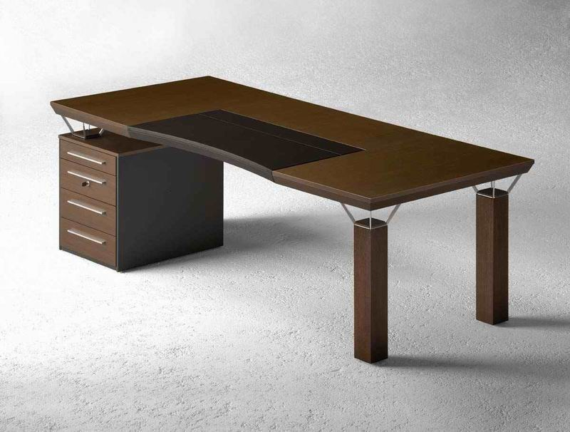 Wooden executive desk with drawers QUADRA | Office desk with drawers by MASCAGNI