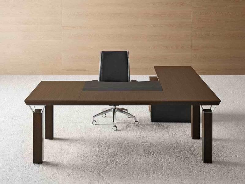 Wooden executive desk QUADRA | Executive desk by MASCAGNI