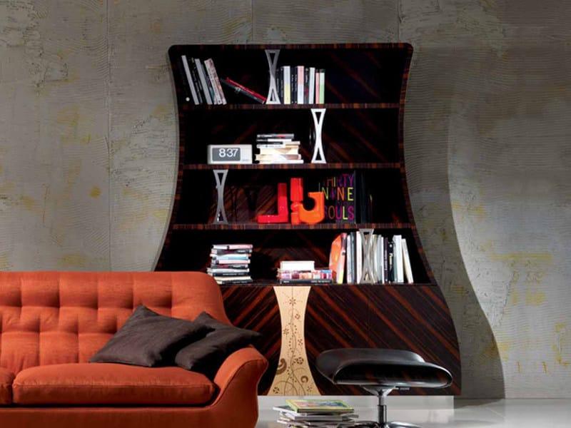 Open wooden bookcase CARTESIO | Bookcase by Carpanelli Contemporary