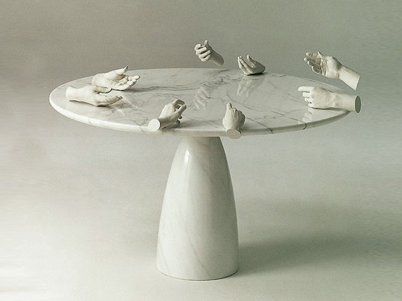 Round stone table FINALE by Draenert