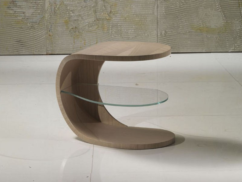 Wooden bedside table IRIDE | Bedside table by Carpanelli Contemporary