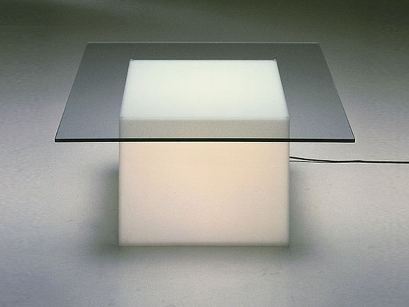 Glass coffee table with light KUBIS - TISCH by Draenert