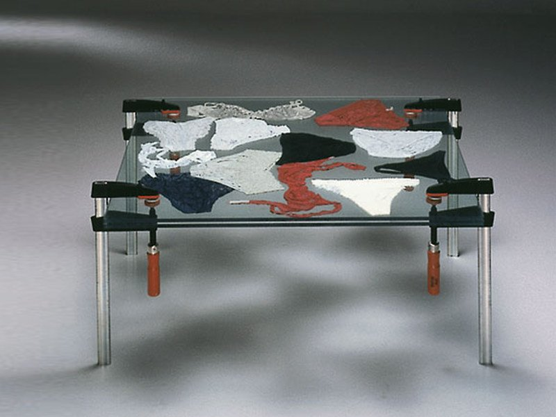 Glass coffee table FE -TISCH by Draenert