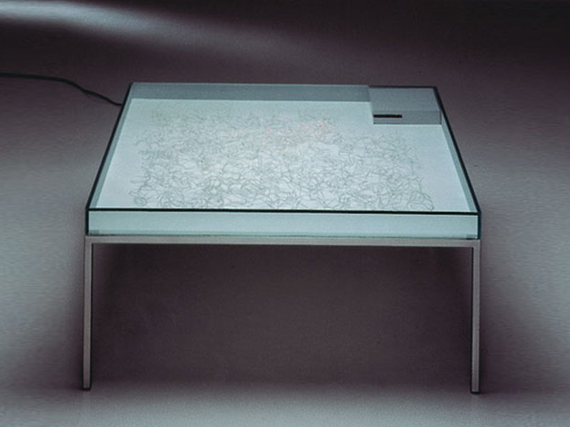 Glass coffee table with light FUTURIS - TISCH by Draenert