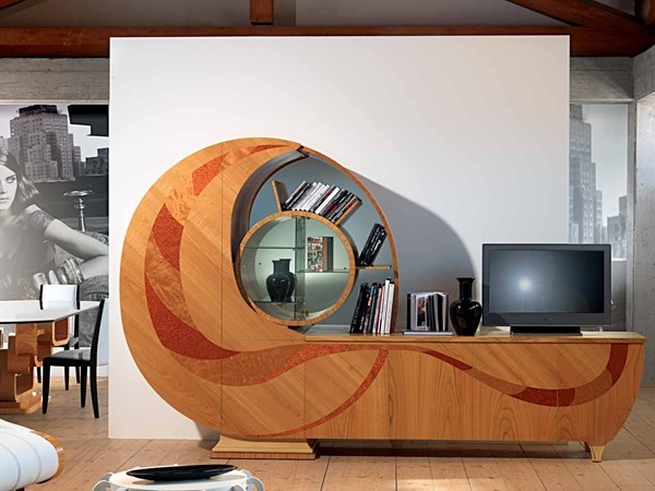 Wooden sideboard with doors CHIOCCIOLA by Carpanelli Contemporary