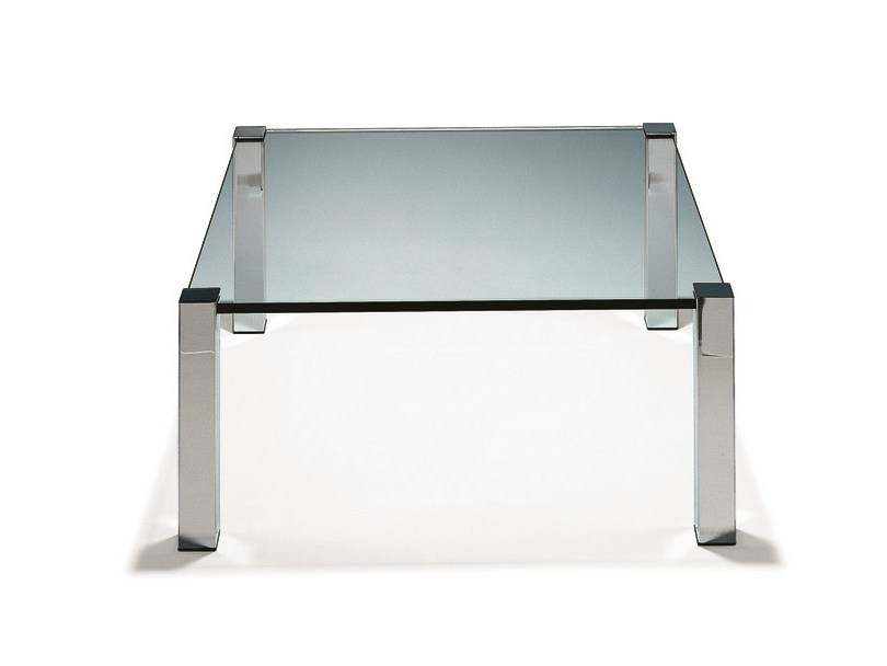 Low glass coffee table SOKRATES by Draenert