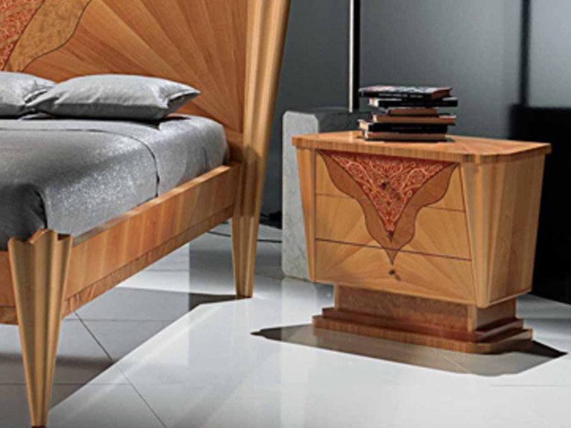 Wooden bedside table with drawers CONTEMPORARY VISION   Bedside table by Carpanelli Contemporary