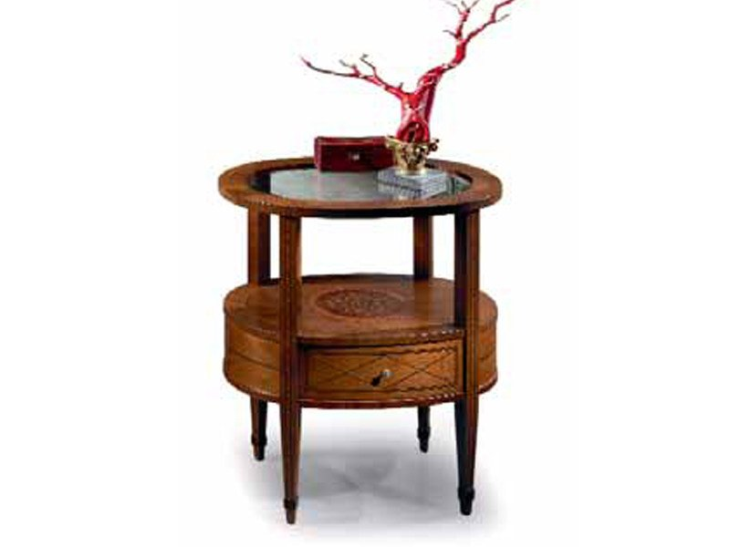 Cherry wood bedside table ELLITTICO | Bedside table by Carpanelli Classic