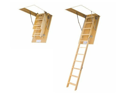Wooden loft ladder LWS SMART by FAKRO